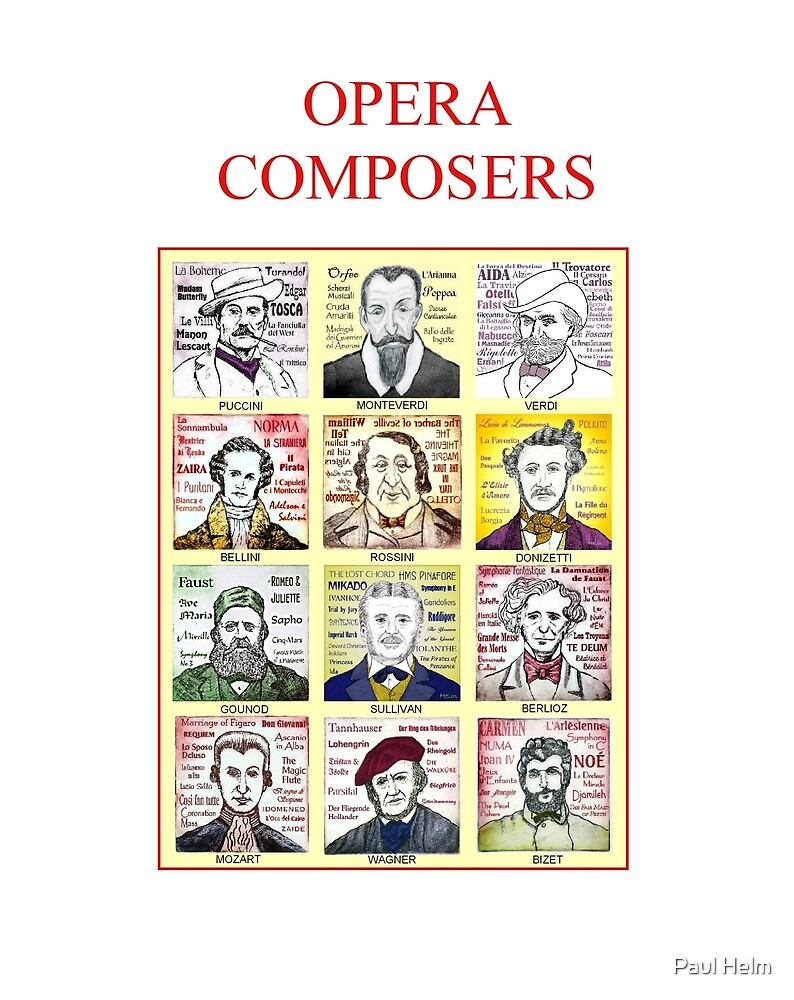 12 Opera Composers by Paul Helm