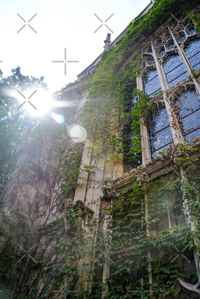 Ivy Covered Stained Glass Window by jenbucheli