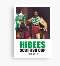 Hibs scottish Cup winners 2016 Canvas Print