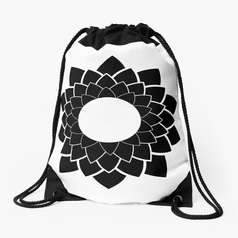 Lotus - flower Drawstring Bag Front