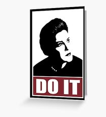 Obey Janeway Greeting Card