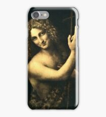 Leonardo Da Vinci - St  John The Baptist  iPhone Case/Skin