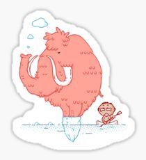 Pink Mammoth Sticker