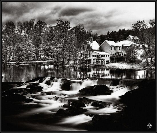 Chocorua Farmhouse Mindscape by Wayne King