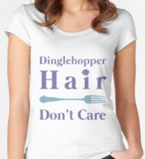 Mermaid Dinglehopper Hair Dont Care Women's Fitted Scoop T-Shirt
