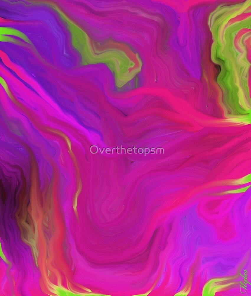 AGATE INTERPRETED:  PINK LAVA BEDS by Saundra Myles