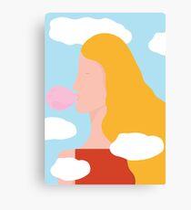 Head in clouds Canvas Print