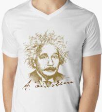Albert Einstein visionary in modern physics Men's V-Neck T-Shirt