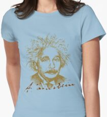 Albert Einstein visionary in modern physics Womens Fitted T-Shirt