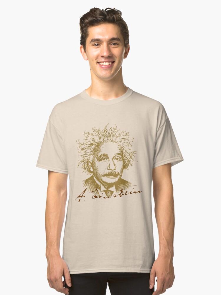Albert Einstein visionary in modern physics Classic T-Shirt Front
