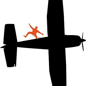 jump in flight - plane by founzy