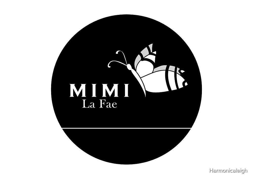 Mimi La Fae Logo,Round, Black by Harmonicaleigh
