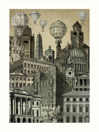 Vintage City, Antique City by SaturnPrint