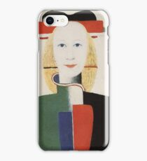Kazemir Malevich - Girl With A Comb In Her Hair 1933 iPhone Case/Skin