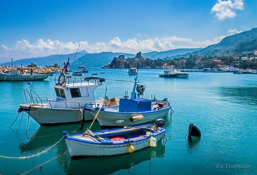 Cefalu Harbour by Viv Thompson