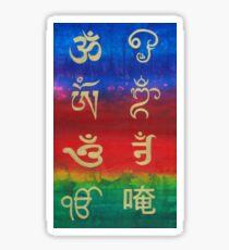Om (Universal sound) in different languages Sticker