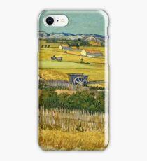 Vincent Van Gogh -  Harvest, June 1888 - 1888  iPhone Case/Skin