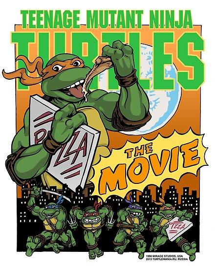 Ninja Turtles Retro First Movie 1990 Mikey by Arseniy Dubakov
