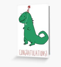 Birthday Dinosaur Greeting Card