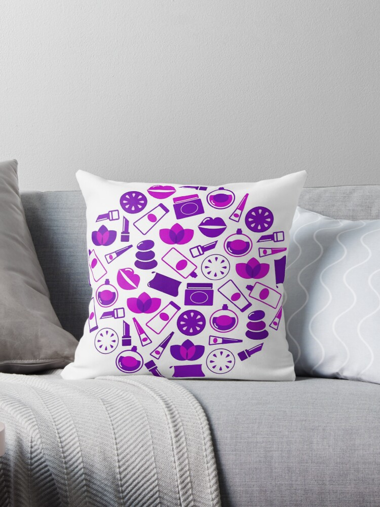 Cosmetic design elements and icons : purple vintage design only in our Designers Shop by Bee and Glow Illustrations Shop