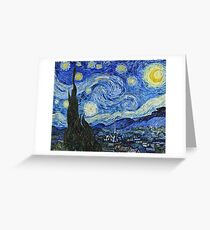 Vincent Van Gogh -  Starry Night 1889  Greeting Card