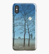 Kawase Hasui - Winter Moonlight iPhone Case/Skin