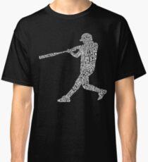 Baseball Softball Player Calligram Classic T-Shirt