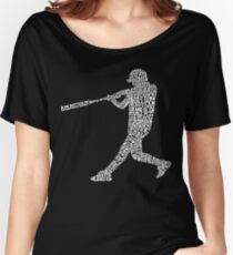 Baseball Softball Player Calligram Women's Relaxed Fit T-Shirt