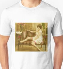 A Victorian Lady reclining on her Chaise Longue vintage photograph Unisex T-Shirt