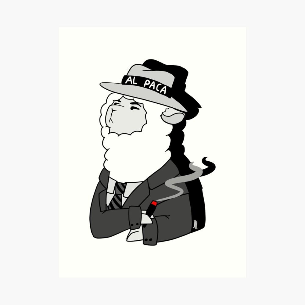 Al Capone Alpaca Kunstdruck