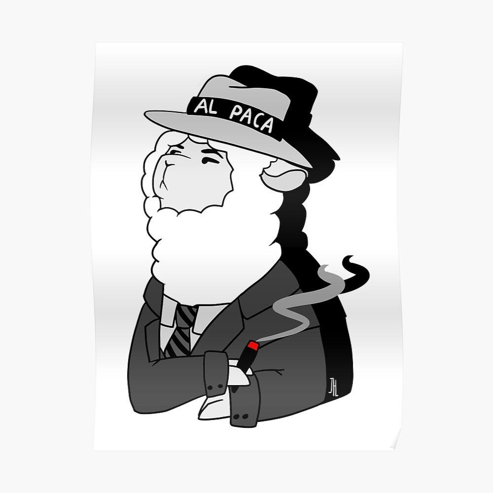 Al Capone Alpaca Poster