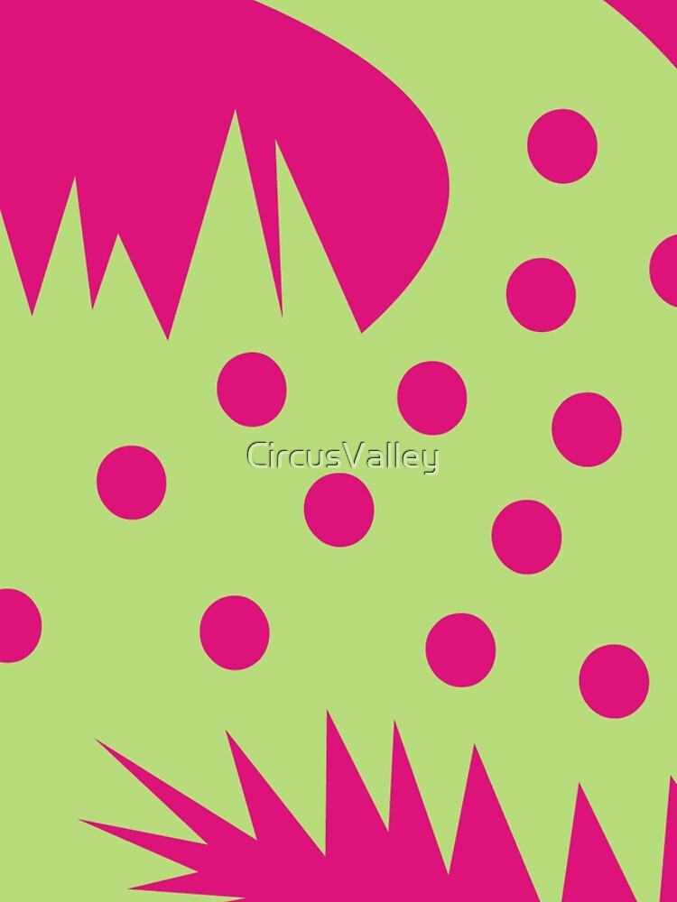 CVAN0076 Fuzzy Animals Green and Pink by CircusValley