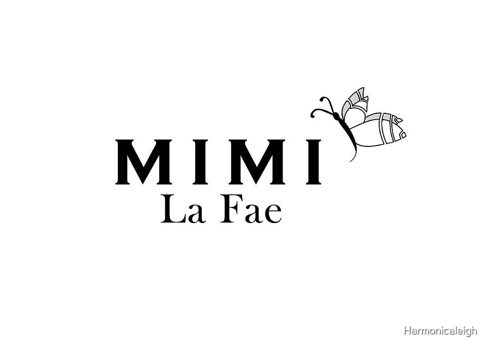Mimi La Fae Logo, black text by Harmonicaleigh