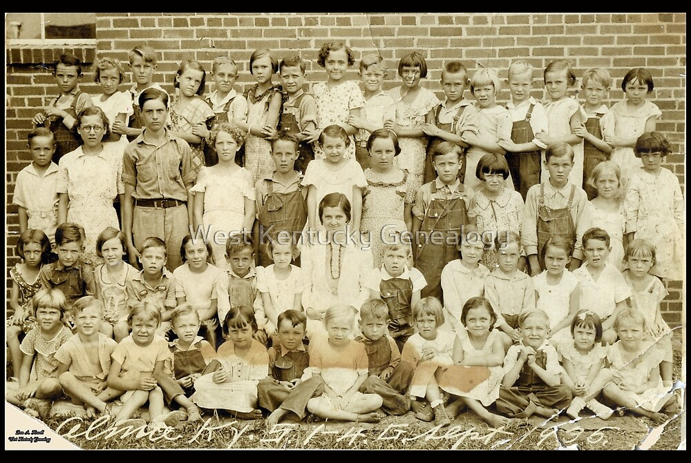 1935 Almo School, 1st-4th Grades, Calloway County, Kentucky by Don Howell