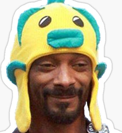 Snoop Doggy Dog Hat Sticker