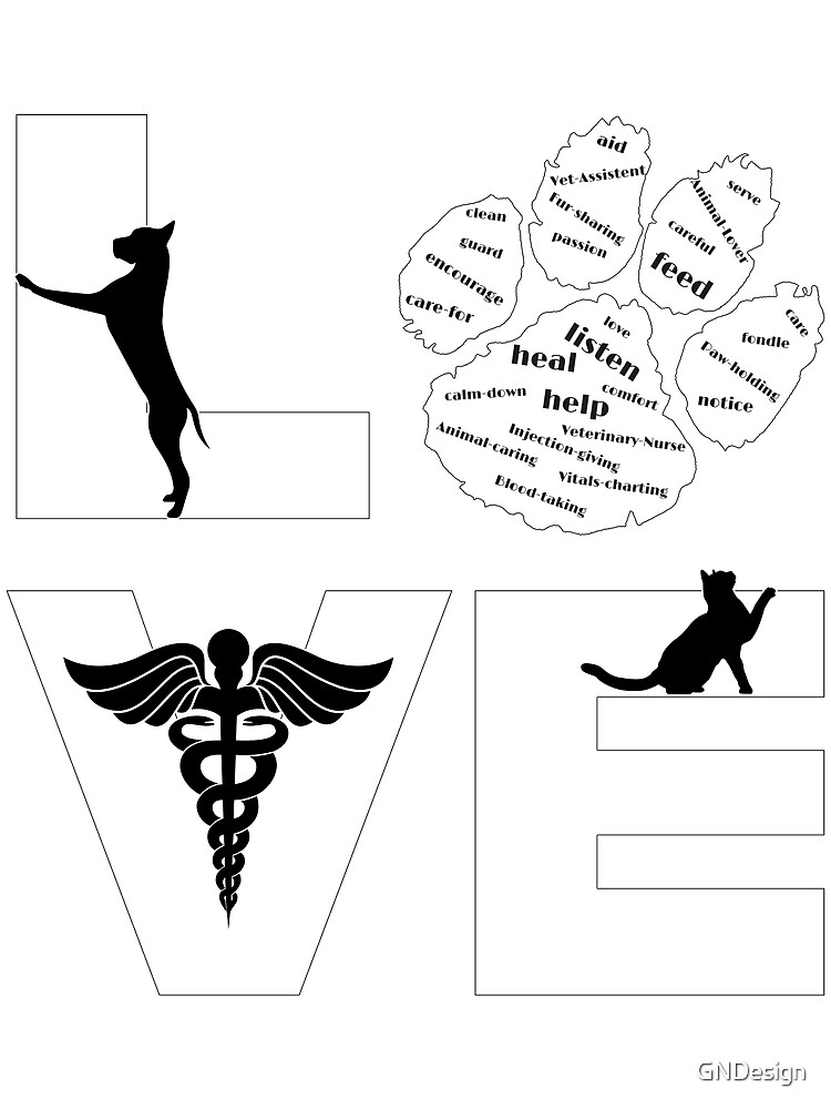 """Veterinary Assistant """"Love"""" by GNDesign"""