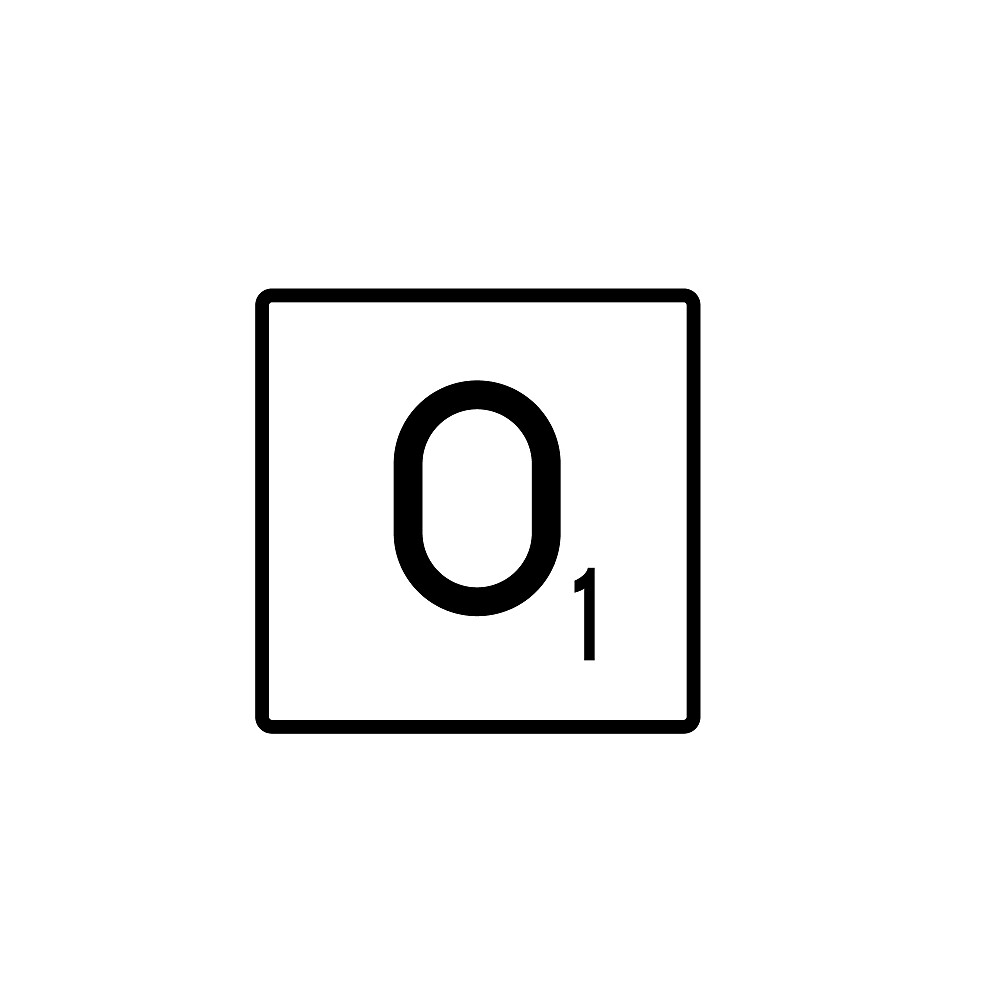 Scrabble O Names by Manara