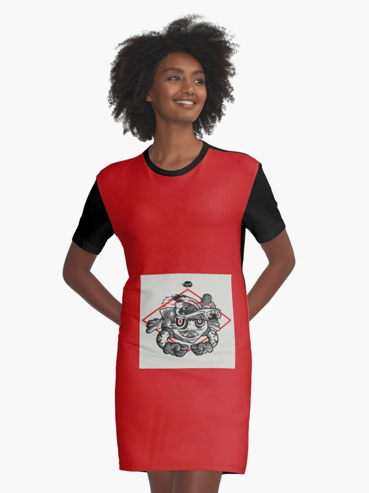 This crazy world is upside down! Graphic T-Shirt Dress Front
