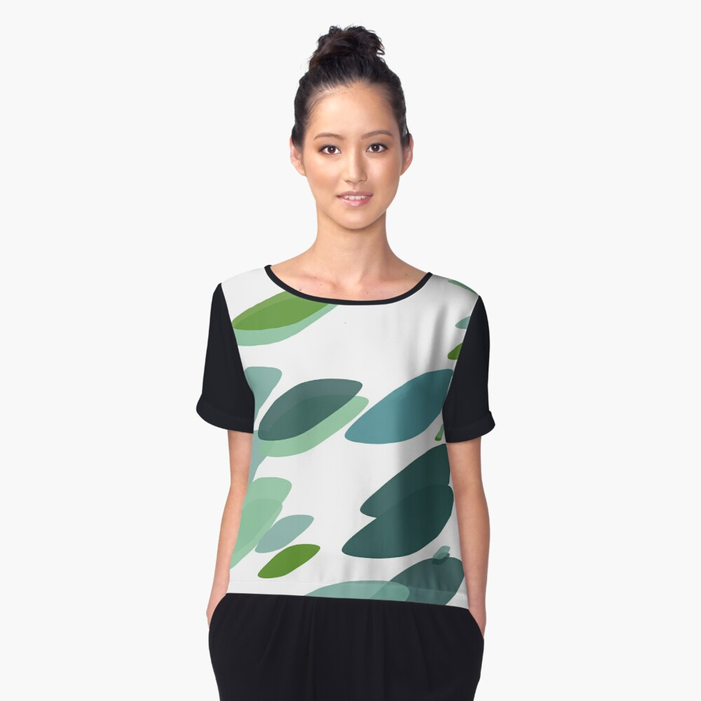 I See Shapes - Pattern #4 Women's Chiffon Top Front