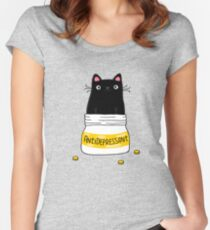 FUR ANTIDEPRESSANT Fitted Scoop T-Shirt