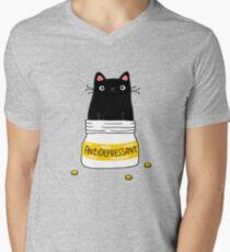 FUR ANTIDEPRESSANT T-Shirt mit V-Ausschnitt für Männer