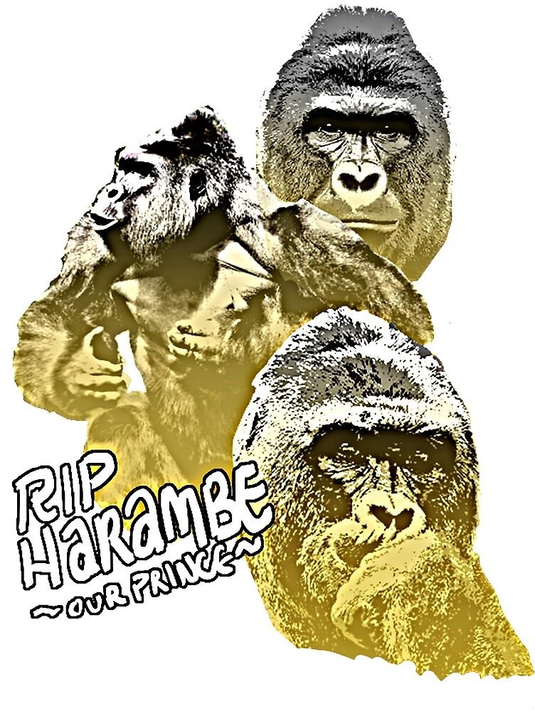 RIP Golden Prince Harambe by jaefman