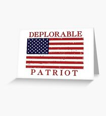 Deplorable Patriot Greeting Card