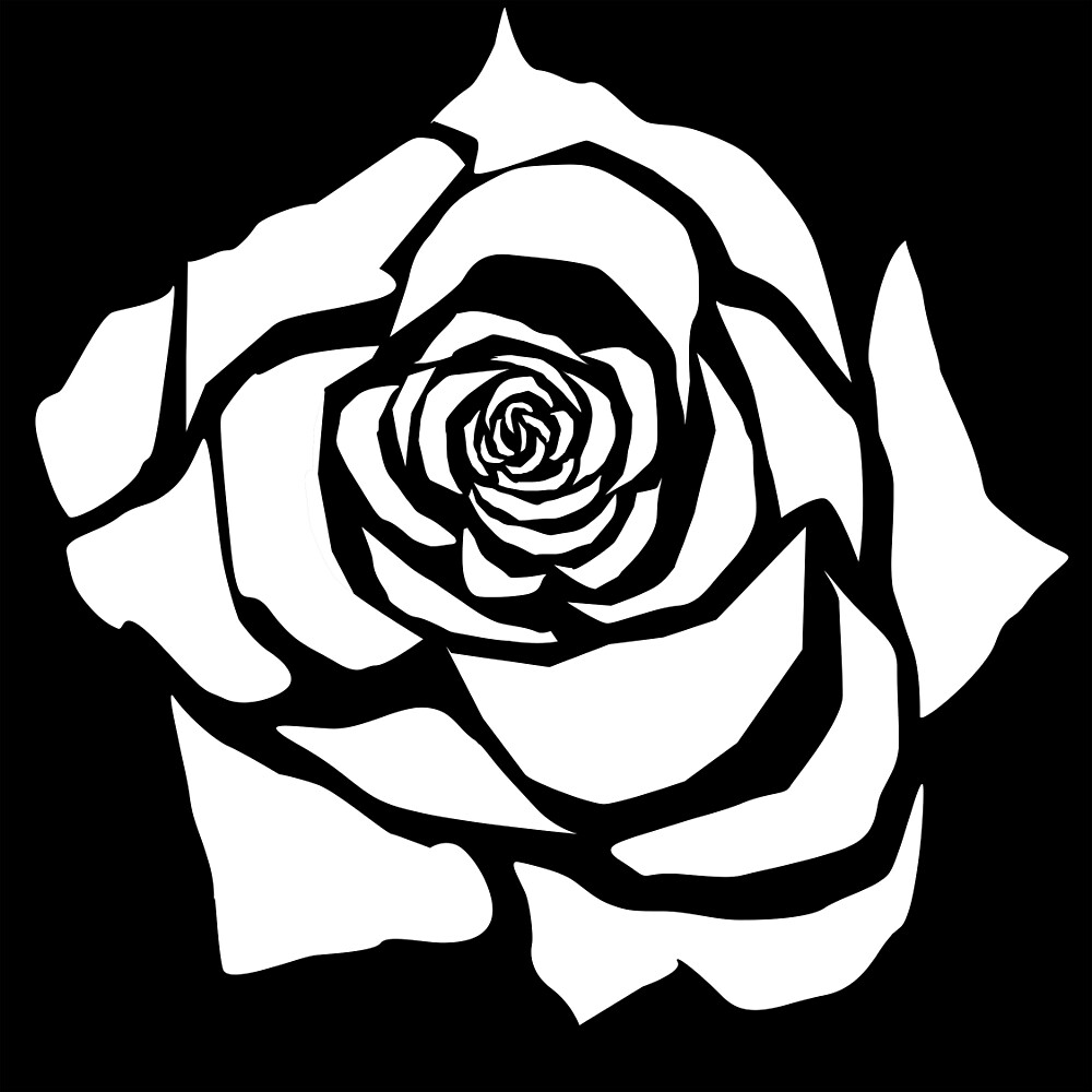 Monochrome rose by moonatmidnight