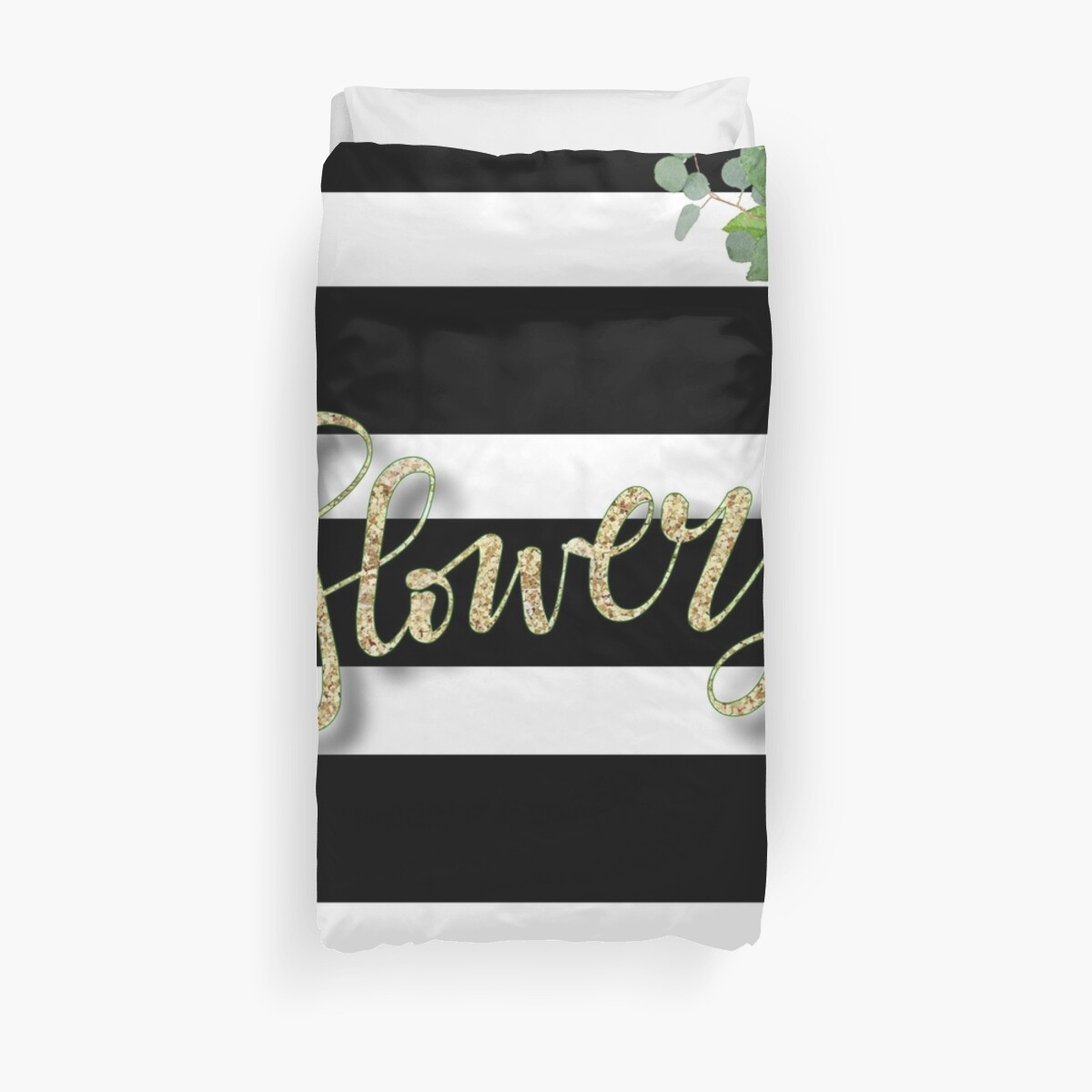 Flowery. Gold,typography,cool,text,black,white,stripes,water color,hand painted,flowers,roses,floral,trendy,modern,girly by love999