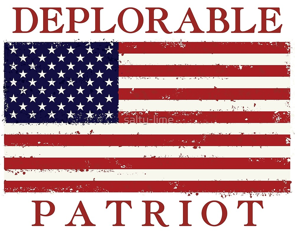 Deplorable Patriot Sticker by salty-lime