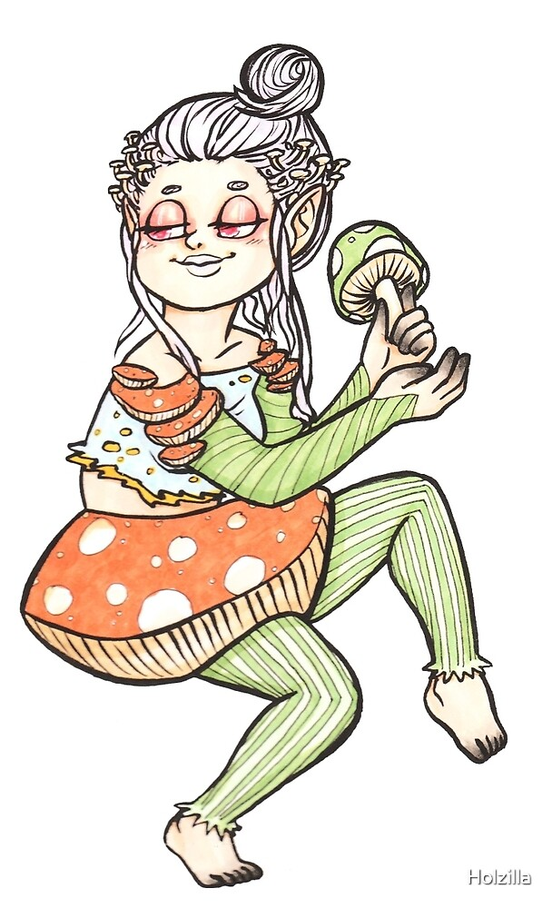 Mushroom Girl by Holzilla