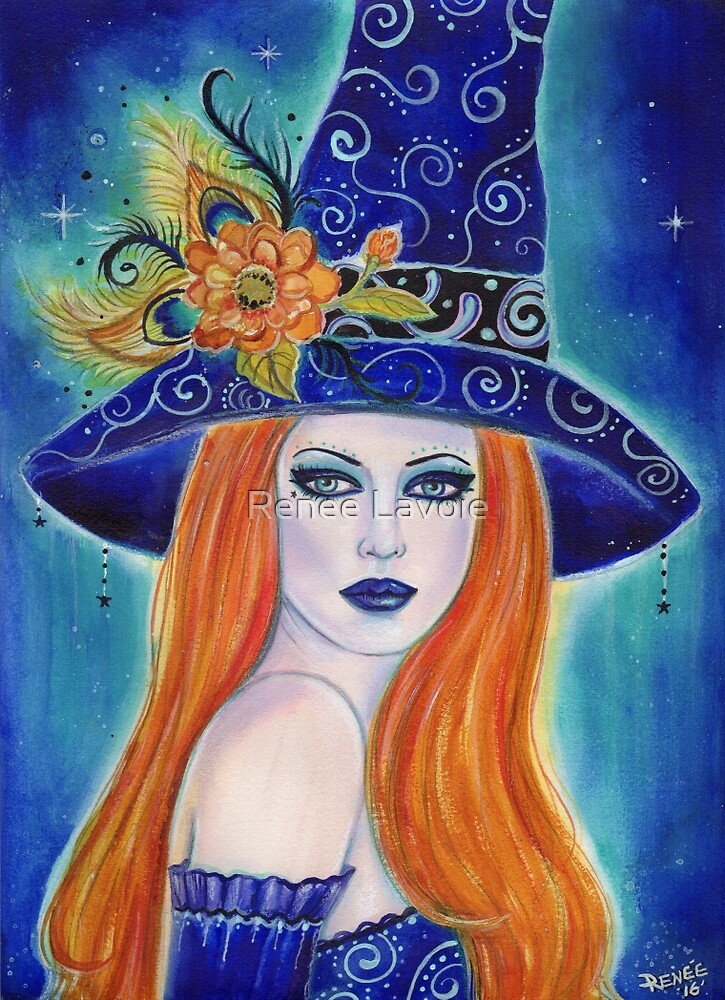 Divinia Halloween fantasy witch by Renee L Lavoie by Renee Lavoie