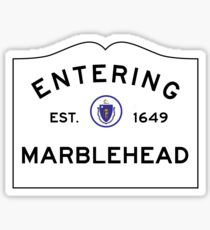 Entering Marblehead - Commonwealth of Massachusetts Road Sign Sticker