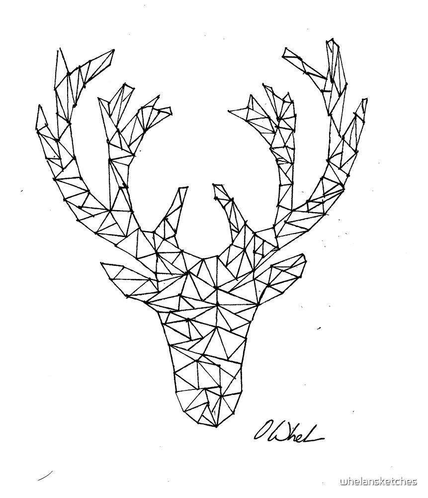 Geometric Stag by whelansketches
